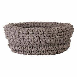 Béžový pletený bavlnený košík Blomus, ø38cm