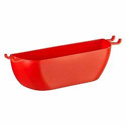 Červený nástenný košík Wenko Turbo-Loc Brasil