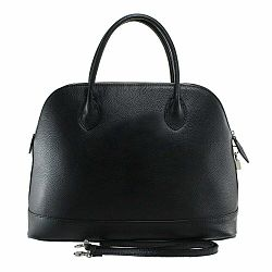 Čierna kožená kabelka Chicca Borse Griot