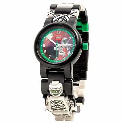 Čierne náramkové hodinky so skladacím remienkom a minifigúrkou LEGO® Iconic Mumie