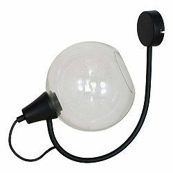 Čierne nástenné svietidlo Glimte Arbuz Black Uno