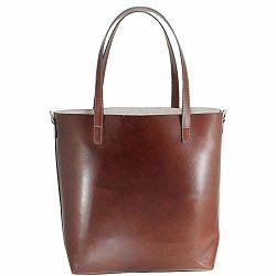 Hnedá kožená kabelka Chicca Borse Greta
