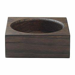 Hnedá odkladacia miska z dubového dreva Blomus Modo, 10 x 10 cm