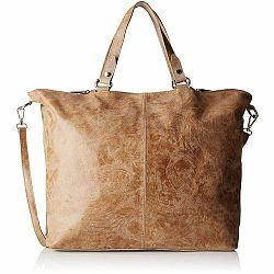 Hnedobéžová kožená kabelka Chicca Borse Terracia