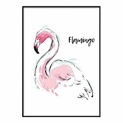 Plagát DecoKing Flamingo Aquarelle, 50 x 40 cm