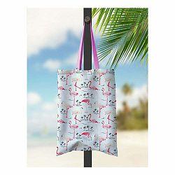 Plážová taška Kate Louise Flamingo Bay