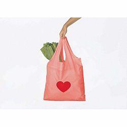 Ružová nákupná taška DOIY Heart