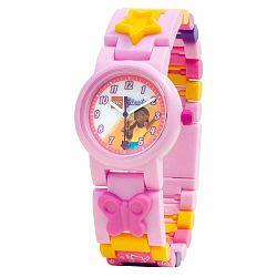 Ružové náramkové hodinky so skladacím remienkom LEGO® Andrea