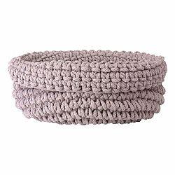 Ružový pletený bavlnený košík Blomus, ø 38 cm