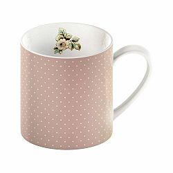 Ružový porcelánový hrnček s bodkami Creative Tops Cottage Flower, 330 ml