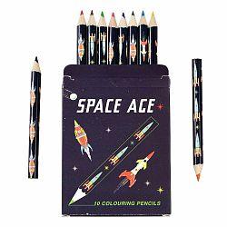 Sada 10 pasteliek v puzdre s vesmírnou tematikou Rex London