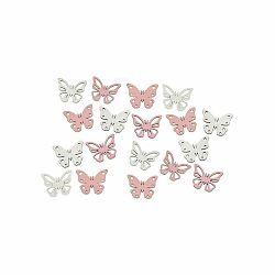 Sada 18 závesných dekorácií v tvare motýla Ego Dekor Fly