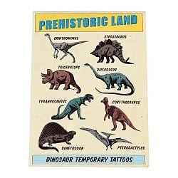 Sada 2 listov s dočasným tetovaním Rex London Prehistoric Land