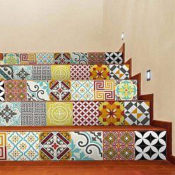 Sada 2 samolepiek na schody Ambiance Mosaic, 15×105 cm