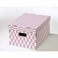 Sada 2 škatúľ s viečkom z vlnitej lepenky Compactor Teddy, 40 × 31 × 21 cm