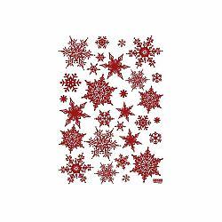 Sada 30 vianočných samolepiek Ambiance Christmas Red Flakes