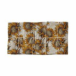 Sada 4 ks látkových obrúskov s prímesou ľanu Linen Couture Sunflower, šírka 40 cm