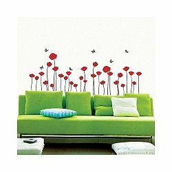 Sada samolepiek Ambiance Red Poppy Flowers
