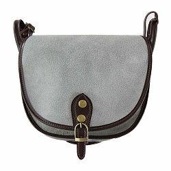 Sivá kožená kabelka Chicca Borse Ilenea