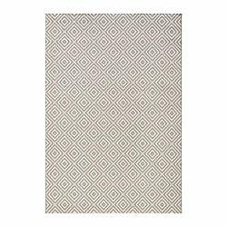 Sivý koberec vhodný aj do exteriéru Karo, 200×290 cm