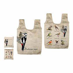 Skladacia taška s potlačou vtáčikov Esschert Design Fly