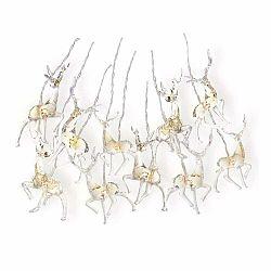 Svietiaca reťaž v tvare sobov DecoKing Deer, dĺžka 1,65 m