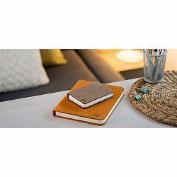 Tmavohnedá malá LED stolová lampa v tvare knihy Gingko Booklight