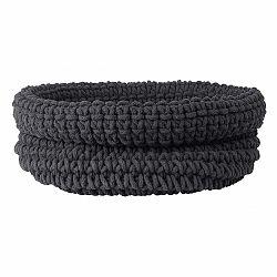 Tmavosivý pletený bavlnený košík Blomus, ø38cm