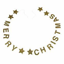 Vianočná girlanda s nápisom Rex London Gold Stars