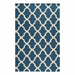 Vlnený koberec Ava Navy, 182×274 cm