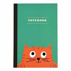 Zápisník s mačičkou vo formáte A5 linajkový Rex London, 60 strán