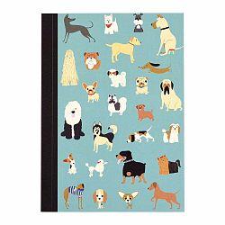 Zápisník so psíkmi vo formáte A6 linajkový Rex London, 60 strán