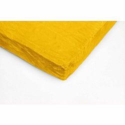 Žltá mikroplyšová prikrývka na jednolôžko My House, 90 × 200 cm