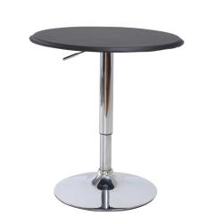 Barový stôl s nastaviteľnou výškou, čierna, BRANY