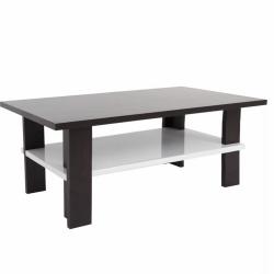 Konferenčný stolík, wenge/biela extra vysoký lesk HG, ANATOL