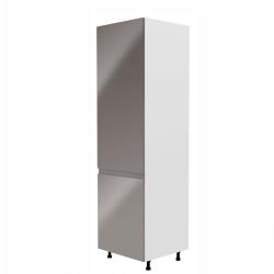 Skrinka na chladničku, biela/sivá extra vysoký lesk, ľavá, AURORA D60ZL